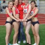 A-Jugend-Staffel mit Trainerin Lysann Haase