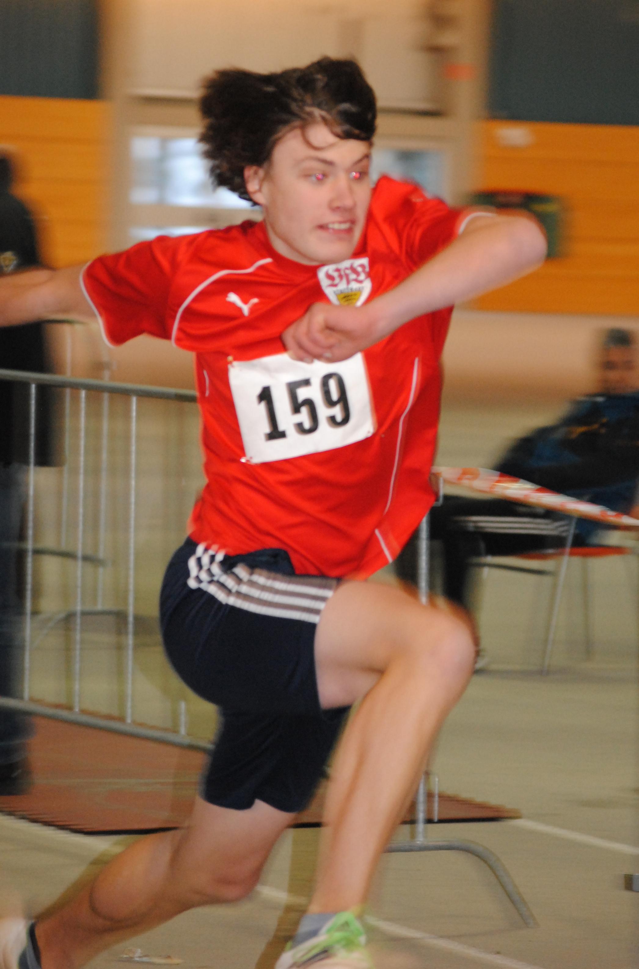 Bastian beim 5er-Sprung